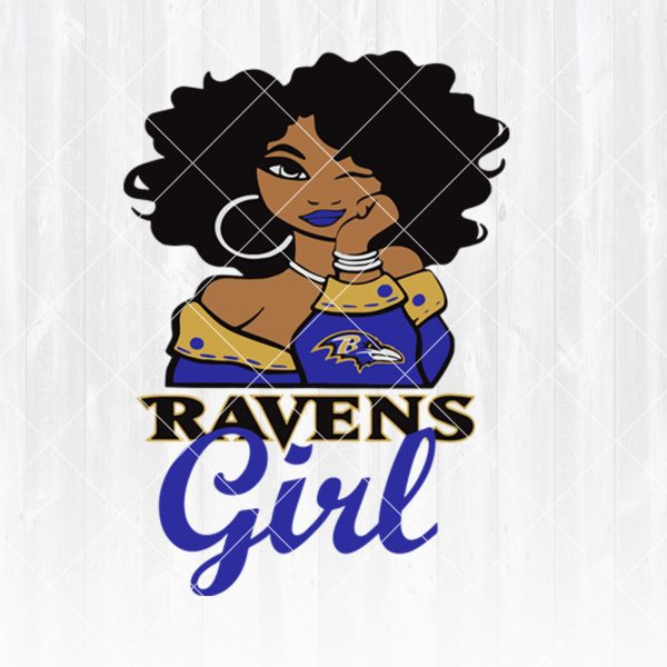 Baltimore Ravens Girl svg - Baltimore Ravens Girl - NFL Team Girl Svg -Football Team Svg - Football Svg NFL Svg - Digital Download