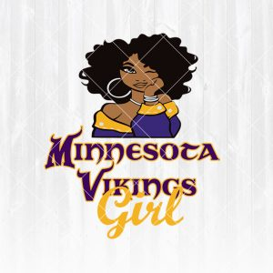 Minnesota Vikings Girl svg - Minnesota Vikings Girl - NFL Team Girl Svg -Football Team Svg - Football Svg NFL Svg - Digital Download
