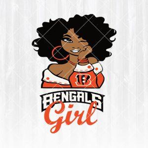 Cincinnati Bengals Girl svg - Cincinnati BengalsGirl - NFL Team Girl Svg -Football Team Svg - Football Svg NFL Svg - Digital Download