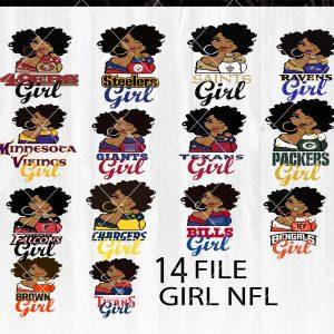 NFL Girl Bundle Svg - NFL Girl Bundle Sport Girl Team Svg - , Bundle Sport Svg - Cutting files - football lovers - Digital Download