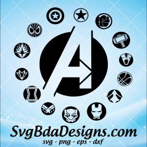 Avengers Marvel Svg - Avengeres Marvel - Thanos Svg - Thor Svg - Tony Stark svg - Spiderman svg - SuperHeros Svg - Digital Download