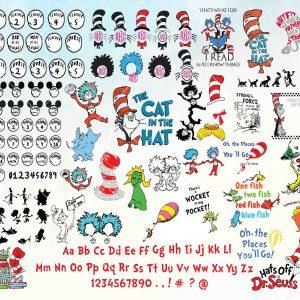 Bundle Cat Hat Svg - Bundle Cat Hat - Dr Seuss Bundle Svg - Cat In The Hat Svg - Dr Seuss Svg - Thing 1- Thing 2 svg - Digital Download