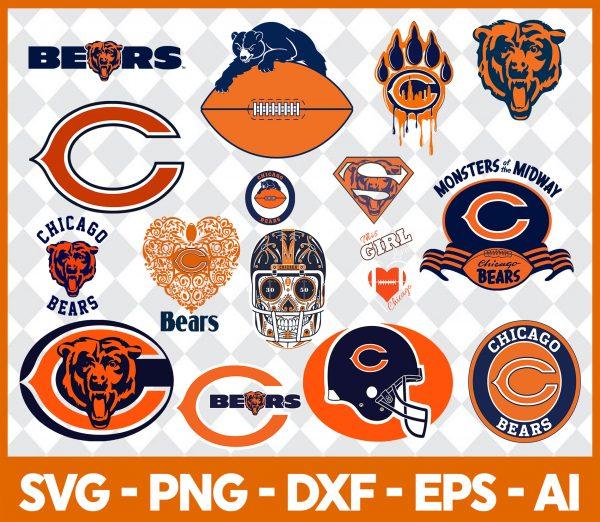 Chicago bears NFL Svg - Chicago bears NFL -NFL Svg - Bundle NFL Svg - National Football League Svg - Digital Download