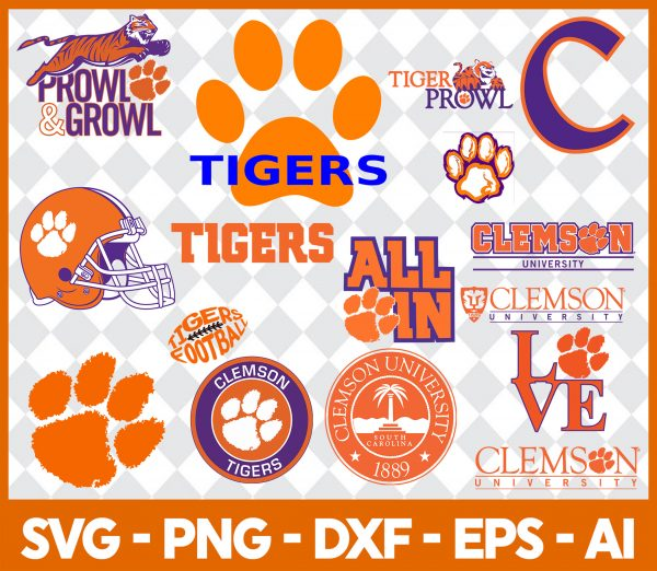 Clemson Tigers NCCA Svg - Clemson Tigers NCCA - NCCA Svg - Bundle NCCA Svg - NCCA Football Svg - Football Svg - Digital Download