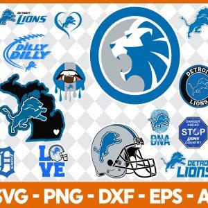 Detroit Lions NFL Svg - Detroit Lions NFL -NFL Svg - Bundle NFL Svg - National Football League Svg - Digital Download