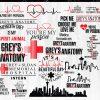 Bundle Greys Anatomy svg - Bundle Greys Anatomy - Greys Anatomy clipart - Greys Anatomy Bundle Svg - Cricut - Silhouette - Digital Download