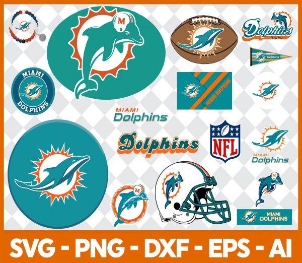 Miami Dolphins NFL Svg - Miami Dolphins NFL -NFL Svg - Bundle NFL Svg - National Football League Svg - Digital Download
