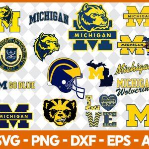 Michigan Wolverines NCCA Svg -Michigan Wolverines NCCA - NCCA Svg - Bundle NCCA Svg - Football Svg - NCCA Football Svg - Digital Download