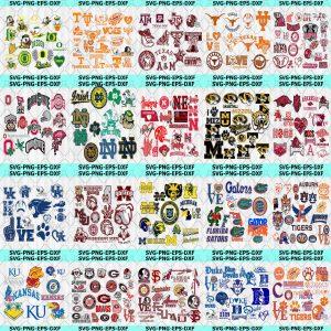 NCAA Bundle Svg - NCCA Bundle - Sport Svg - Mega Bundle Sport - All NCAA Teams - sports lover svg - College basketball - Digital Download