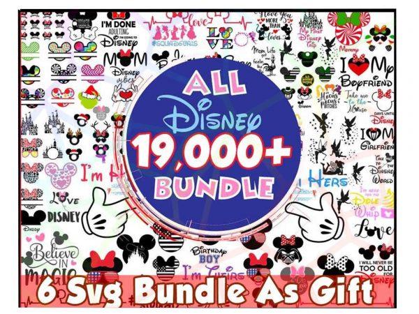 Bundle Disney Svg - Bundle Disney - Mouse MickeySVg - Princess Svg Pack- Castle Bundle SVg - Fairy Bundle, Cartoons svg Bundle - Family Squad Vacation SVg