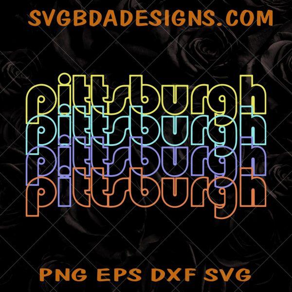 Pittsburgh City Neon Lights Svg - Pittsburgh City Neon Lights -Pittsburgh Pennsylvania SVG - Pittsburgh Tourist SVG- Digital Download