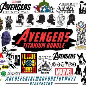 AVENGERS SVG - Avenger marvel svg - avengers - thanos svg - superhero svg -tony stark svg - Cricut Svg files cut