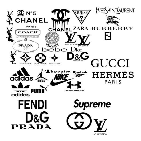 Logo Brand Svg - Logo Brand - Chanel svg - Versace svg - Dior svg - D&G logo - Louis Vuitton svg- Sport Logo Svg - Gucci Svg- Hermes Svg