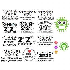 Senior 2020 Bundle SVG -Senior 2020 Bundle -Shit Just Got Real Svg - Tissue 2020 svg - Graduation 2020 svg - Social Distancing Svg
