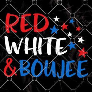 Red White and Boujee Svg- Red White and Boujee -Girl 4th of July Svg, Patriotic Svg, Baby Girl Bows US Flag, Sassy Svg Cut File for Cricut