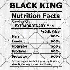 Black King nutrition label Svg - Black King nutrition label black man svg- black father's day svg- black father svg - Digital Download