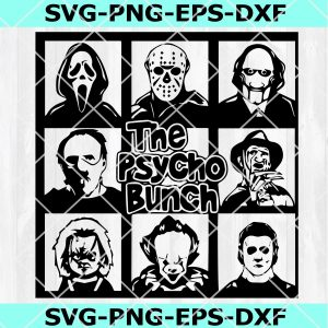 The Psycho Bunch SVG, Horror SVG, Halloween SVG, Horror Film Svg, DXF, EPS, PNG, Instant Download