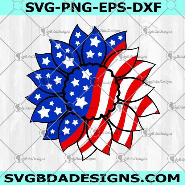 Patriotic Sunflower Svg - Patriotic Sunflower - America Sunflower Svg - USA Flag Flower Svg - USA Svg - Digital Download
