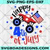 Truck Happy 4th of July Svg -Truck Happy 4th of July - Fourth of July Truck Svg -America Flag Truck Svg - America Monster Truck Svg -Digital Download
