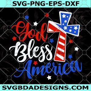 God Bless America Svg - God Bless America - 4th of July Svg - Patriotic Religious Svg - American Flag Svg - Digital Download