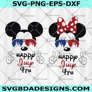 4th Of July Mickey Minnie Svg - 4th Of July Mickey Minnie -Mickey Minnie Head - USA Flag Glasses -Independence Day Svg - Digital