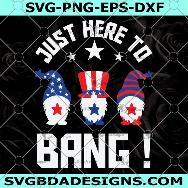 Just Here To Bang Gnomes Svg- Independence Day Svg- Merica Svg- Patriotic American Svg- CriCut -Silhouette- Digital Download