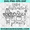 Easily distracted by plants SVG - succulent svg - plant svg- plant lady gift -house plants svg - plant mom svg- Cricut- Silhouette- Digital Download