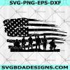 Military soldiers with USA flag SVG -Military soldiers with USA flag -for Cricut Cut Files - Silhouette - Digital Download