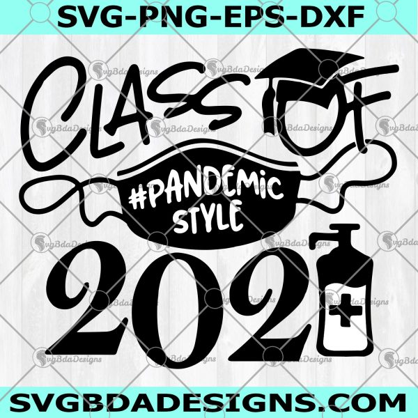 Class of 2021 Graduate Svg -Class of 2021 Graduate- pandemicstyle face mask svg files for cricut or cameo, Graduation cap, Teacher Svg