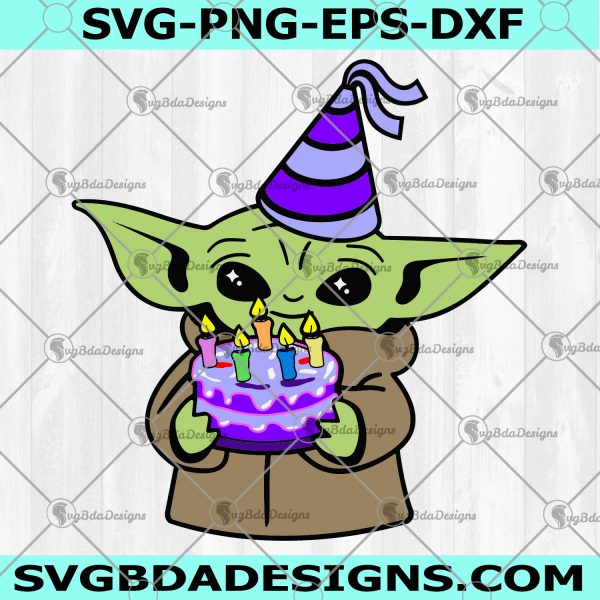 It's My Birthday Baby Yoda SVG - It's My Birthday Baby Yoda - Baby Yoda Svg - Happy Birthday Svg - Digital Download