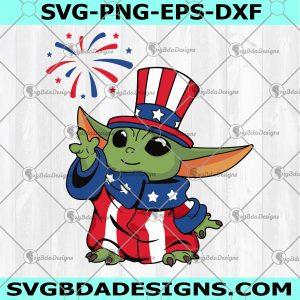 4th of July Baby Yoda Svg - 4th of July Baby Yoda - Patriotic Baby Yoda Svg - Independence Day Svg - USA Svg - America Svg - Digital Download