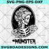 Mom Skeleton Flower SVG - Mom Skeleton Flower - Momster SVG -Messy Bun Mom Skull SVG - Flower Skeleton SVG - Girl Skull Flower SVG - Digital Download