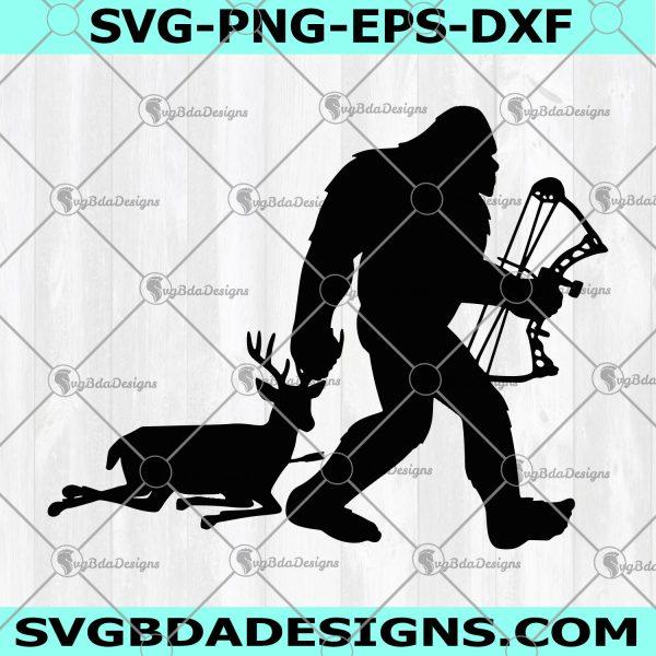 Bigfoot Hunting SVG - Bigfoot Hunting - File For Cricut - File For Silhouette - Digital Download
