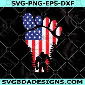 Bigfoot 4th of July Svg - Bigfoot 4th of July -Sasquatch Lover Svg - Merica Svg - Proud American - Independence Day, Merica Svg- Patriotic American