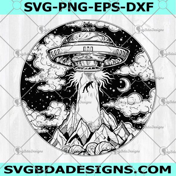 UFO Alien Svg - Ufo Alien - Flying Unidentified Nasa - Space Cricut Exploration Spaceship Rocket Ship - Digital Download