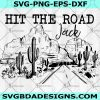 Hit the road Jack Svg Png Eps - The road Svg- On the road again Svg- Cricut - Silhouette - Digital Download