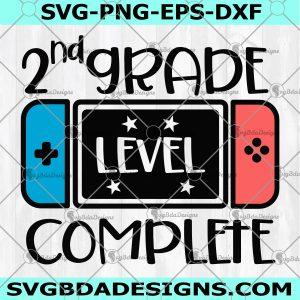 Second Grade Level Complete SVG - Second Grade Level Complete - 2nd Grade Graduation Svg - Video Game svg - Grade School Svg - Digital Download