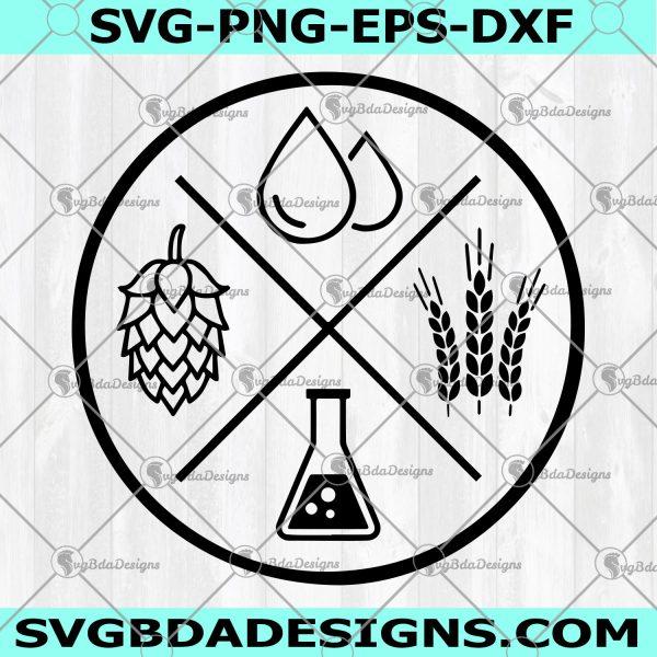 Beer Ingredients SVG - Beer Ingredients - Water Hops Wheat Yeast SVG - Beer Saying Svg - Beer Humor Svg - Beer Mug Svg - Beer Svg - Digital Download