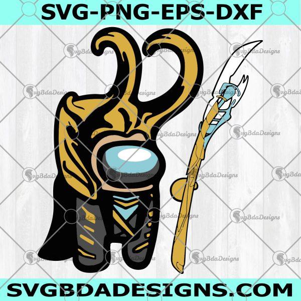 Among Us Loki Scepter SVG - Among Us SVG- Super Hero SVG -Marvel SVG - Cricut - Digital Download