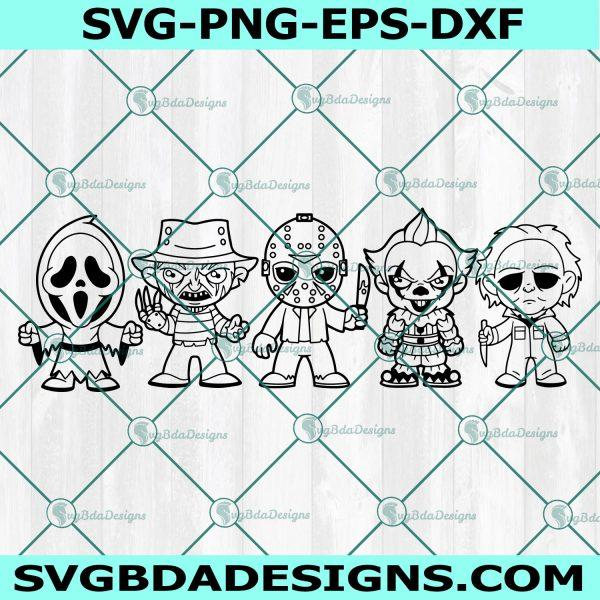 Horror Character Bundle SVG - Horror Character Bundle -Freddy - Jason - Michael - Clown - Scream - Halloween svg - Cricut - Digital Download