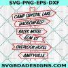 Horror Streets Svg - Horror Streets - Horror Movies SVG -Camp Crystal Lake - Halloween svg - Cricut - Digital Download