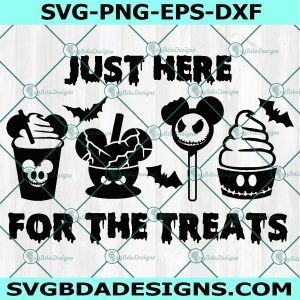 Just Here For the Treats Svg -Disney Halloween SVG - Mickey Snack Goals - Halloween Treats SVG - Cricut - Digital Download