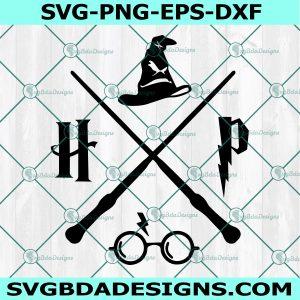 Harry Potter Logo SVG - Hipster - Sorting Hat - Gryffindor SVG - Hogwarts - Harry Potter Logo - Gryffindor -Cricut - Digital Download