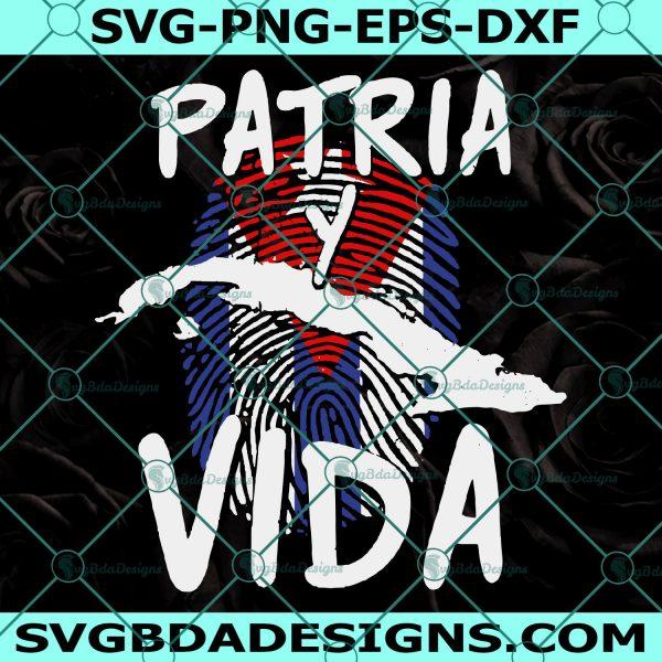 Cuba Patria y Vida Svg - Cuba Patria y Vida - SOS Cuba Svg - Que viva Cuba siempre - Cuba Libre - Revolution Freedom Movement Svg - Cricut - Digital Download