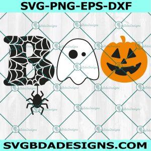 Boo svg, halloween svg, ghost svg, pumpkin svg, kids halloween svg ,Sihouette, Cricut, Digital Download