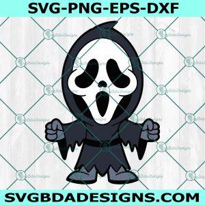 Chibi Scream Svg , Horror Movies Svg, Horror Character Svg, Halloween Svg, Silhouette, Cricut , Digital Download