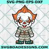 Chibi The Dancing Clown Svg , Horror Movies Svg, Horror Character Svg, Halloween Svg, Silhouette, Cricut , Digital Download