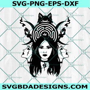 Hecate Goddess SVG, Hecate Goddess, Witch SVG, Gothic SVG, Pagan svg, Sihouette, Cricut, Digital Download