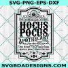 Hocus Pocus Apothecary Svg ,The Sanderson Sisters Svg, Halloween Svg, Silhouette, Cricut , Digital Download