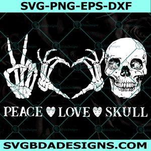 Peace love skull svg , Halloween svg,Skull Halloween Svg Cricut, Digital Download